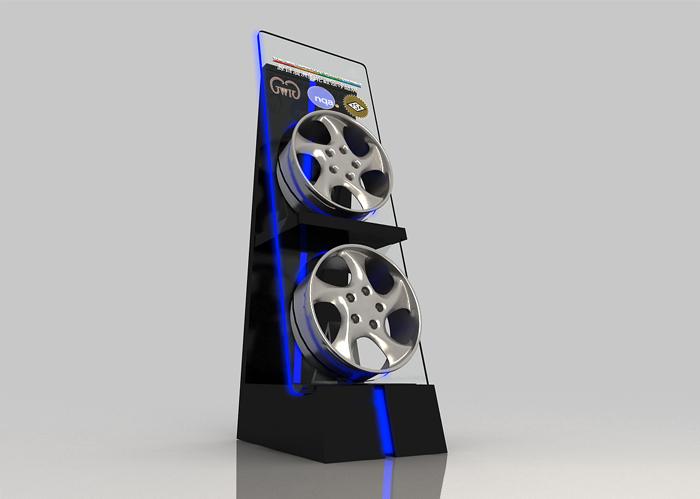 澳大利亚PDW轮毂展示柜制作