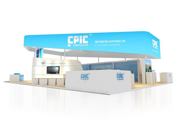 国际材料展-复合材料展台搭建(192㎡)