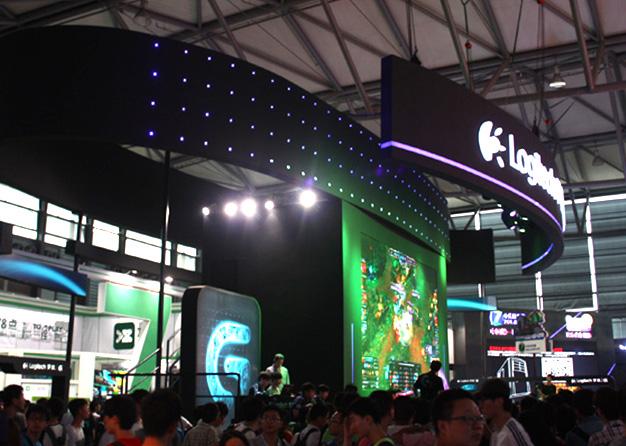 Chinajoy游戏展-罗技展台搭建(274㎡)